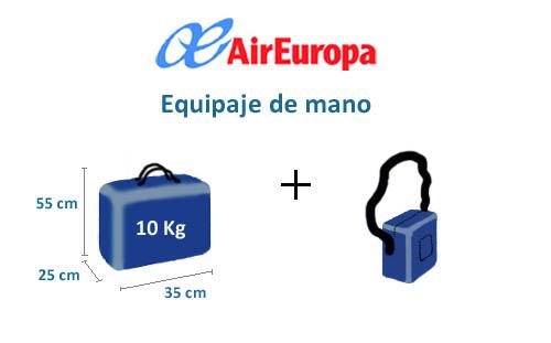 equipaje-mano-medidas-air-europa