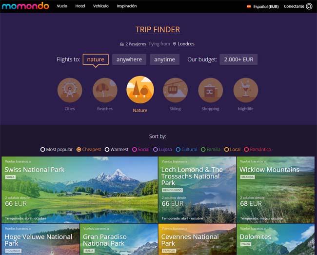 buscador-viajes-momondo-trip-finder