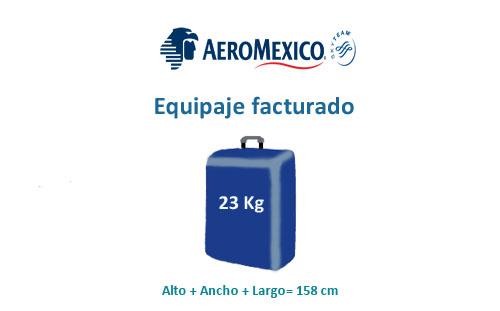equipaje facturado de la compañía aeromexico