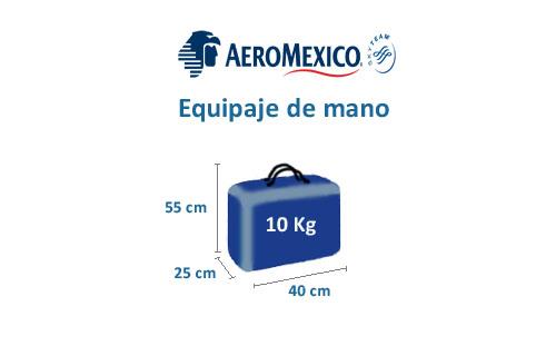 equipaje de mano de la aerolinea de aeromexico