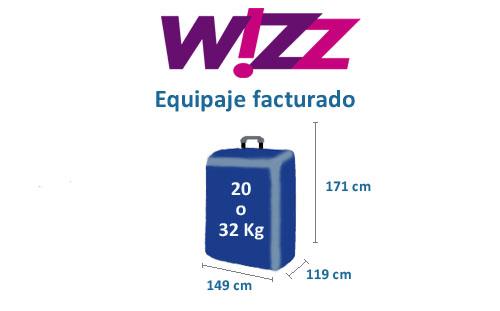 equipaje facturado aerolínea Wizz air
