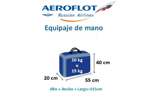 medidas-maletas-equipaje-mano-aeroflot