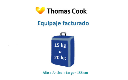 medidas equipaje facturado thomas cook