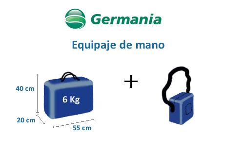 medidas equipaje mano germania