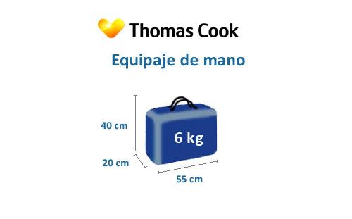 medidas equipaje de mano thomas cook