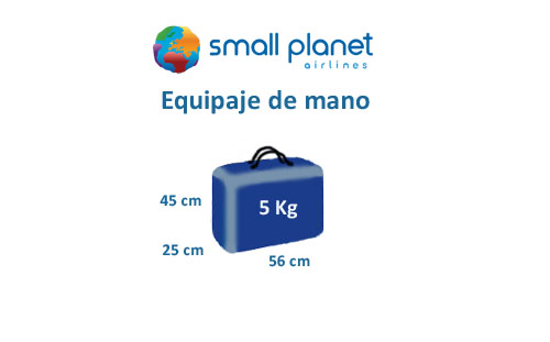 medidas equipaje de mano small planet airlines
