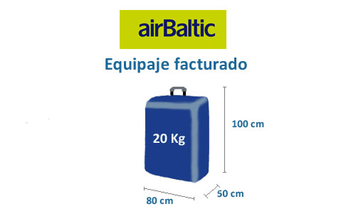medidas equipaje facturado air baltic