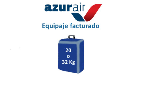 medidas equipaje facturado azur air