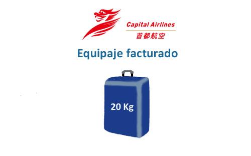 medidas del equipaje facturado de la aerolínea beijing capital airlines