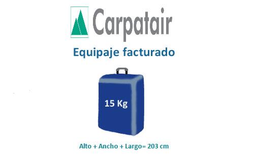 medidas equipaje facturado compañía carpatair