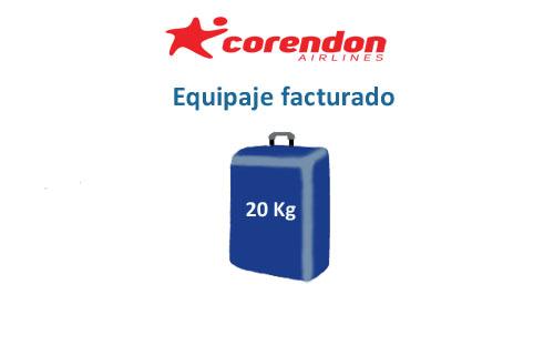 medidas equipaje facturado compañía corendon airlines
