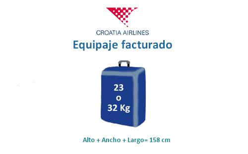 medidas equipaje factuado croatia airlines