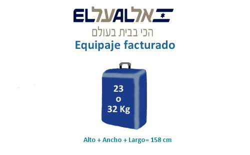 medidas equipaje facturado compañía el al israel airlines