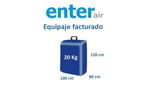 medidas equipaje facturado compañía enter air
