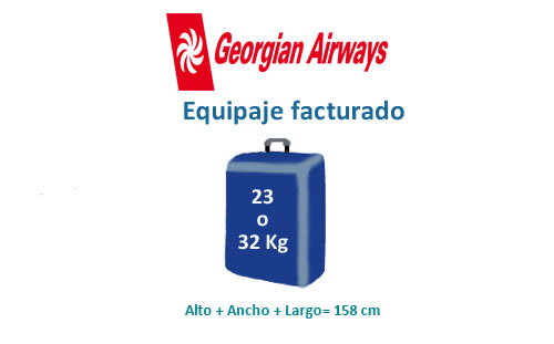 medidas equipaje facturado de compañía georgian airways