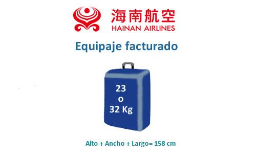 medidas equipaje facturado hainan airlines