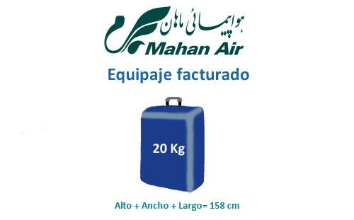 medidas del equipaje facturado aerolínea mahan air