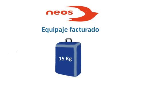 medidas del equipaje facturado compañía neos