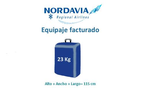 medidas equipaje facturado compañía nordavia