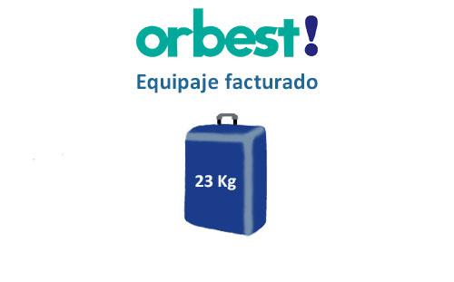 medidas del equipaje facturado compañía orbest