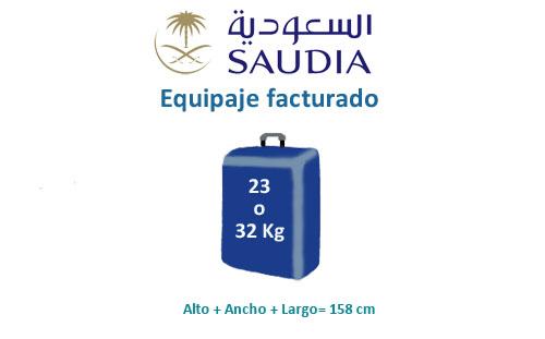 medidas equipaje compañía aerea saudia
