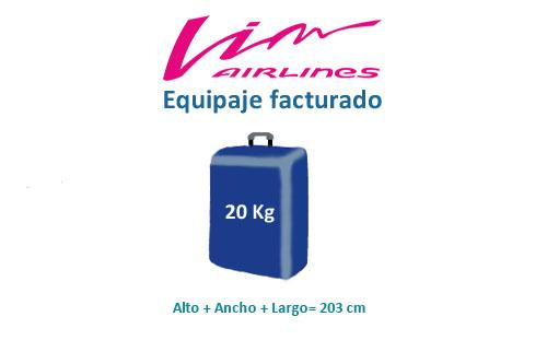 medidas equipaje facturado de vim airlines