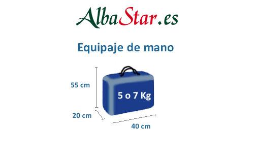medidas equipaje de mano aerolínea alba star