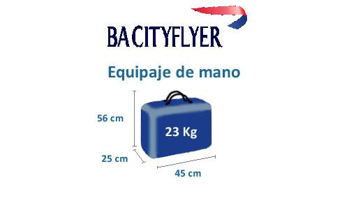 medidas equipaje de mano compañía ba cityflyer