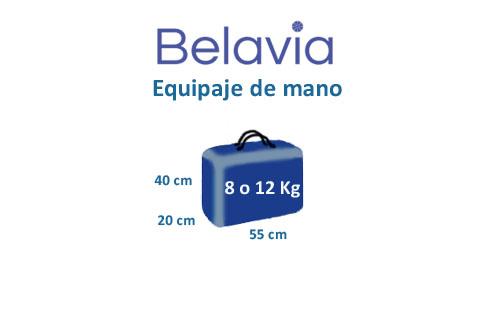 medidas equipaje de mano compañía belavia