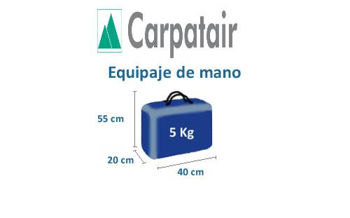 medidas equipaje de mano compañía carpatair