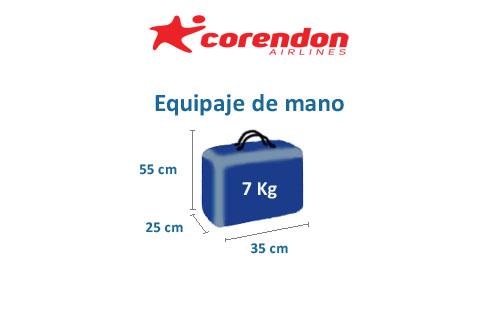 medidas equipaje de mano compañía corendon airlines