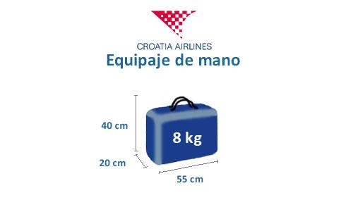 medidas equipaje mano croatia airlines
