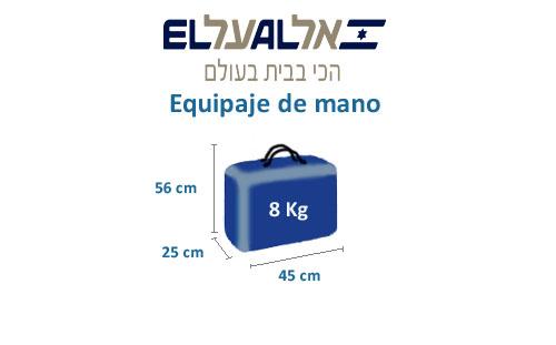 medidas equipaje de mano compañía el al israel airlines