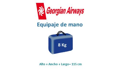 medidas del equipaje de mano compañía georgian airways