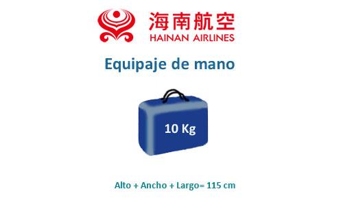 medidas equipaje de mano hainan airlines