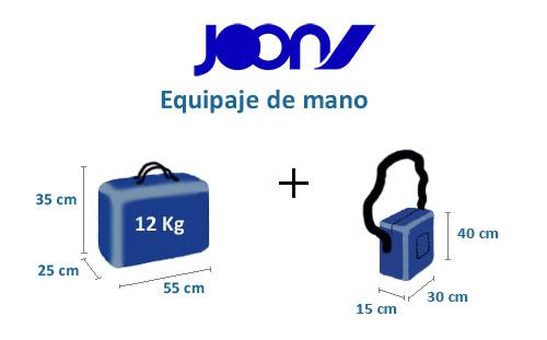 medidas equipaje de mano joon