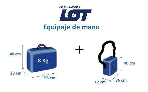 medidas equipaje de mano lot polish airlines