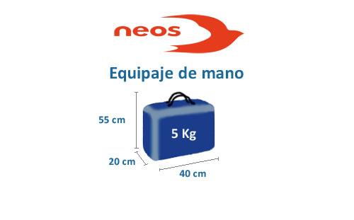 medidas del equipaje de mano aerolínea neos