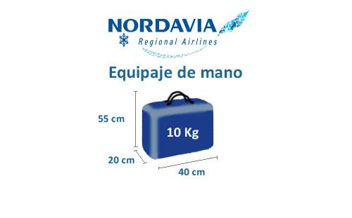 medidas equipaje de mano compañía nordavia