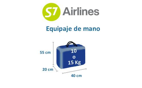 medidas equipaje de mano s7 airlines