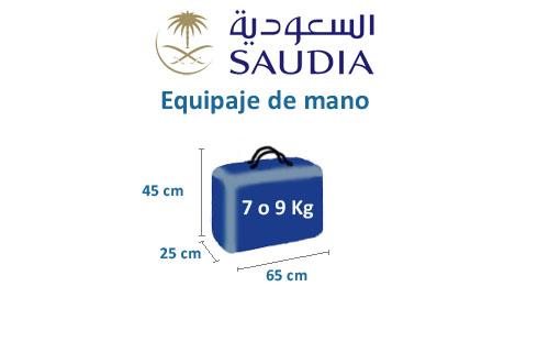 medidas equipaje de mano compañía saudia
