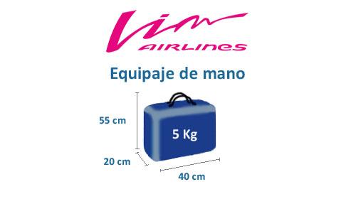 medidas equipaje de mano compañía vim airlines