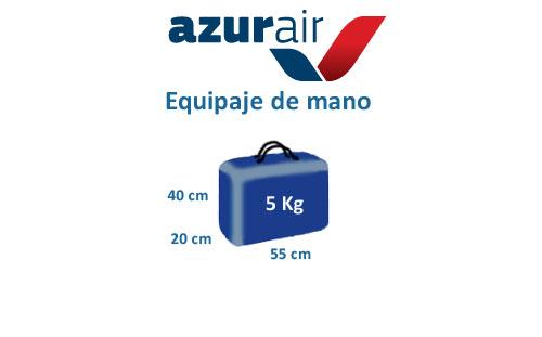 medidas equipaje de mano compañía azur air