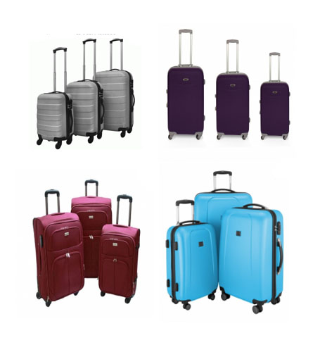 juego de maletas de el Carrefour