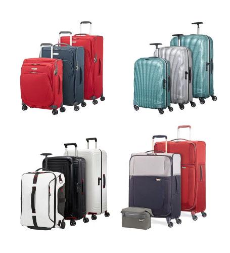 juego de maletas de la marca samsonite