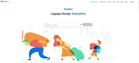 stasher sitio para guardar equipaje