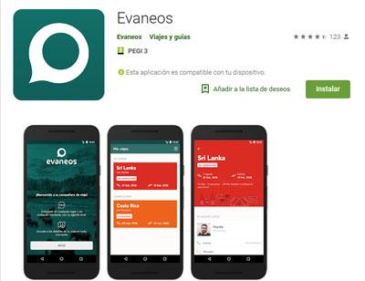 app de evaneos para dispositivos con sistema operativo android