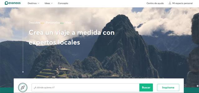 página web de evaneos en la que podrás crear tu viaje a medida y con expertos locales